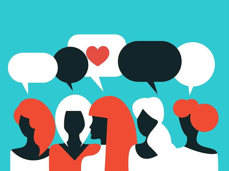 女性たちの会話