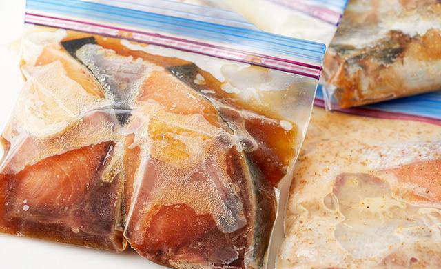 魚の下味冷凍
