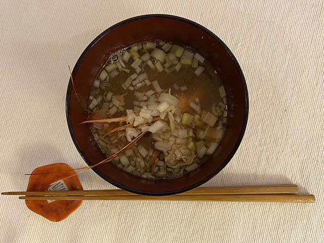 海老の味噌汁