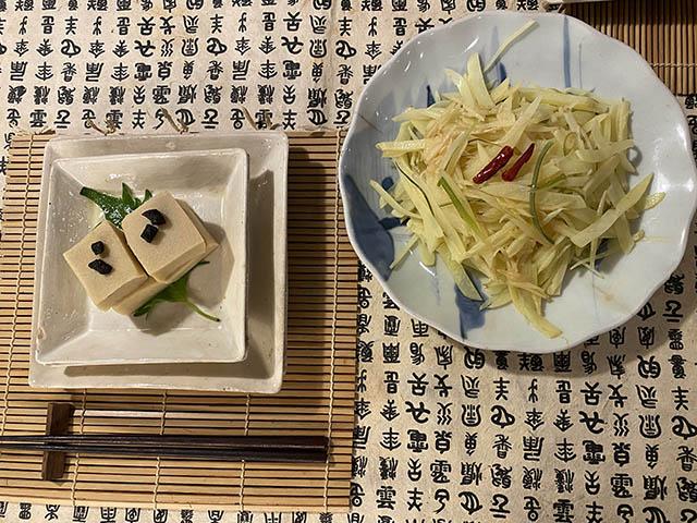高野豆腐とジャガイモ