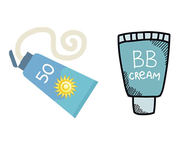 日焼け止め&BBクリームのイラスト