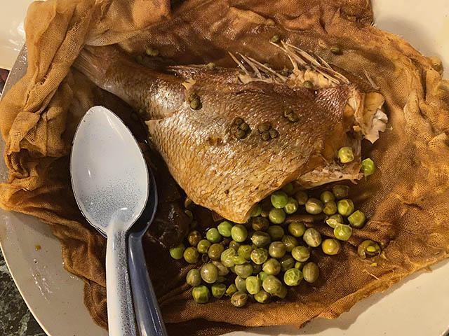 鯛の醤油袋蒸し