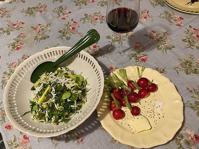 サラダとラディッシュ