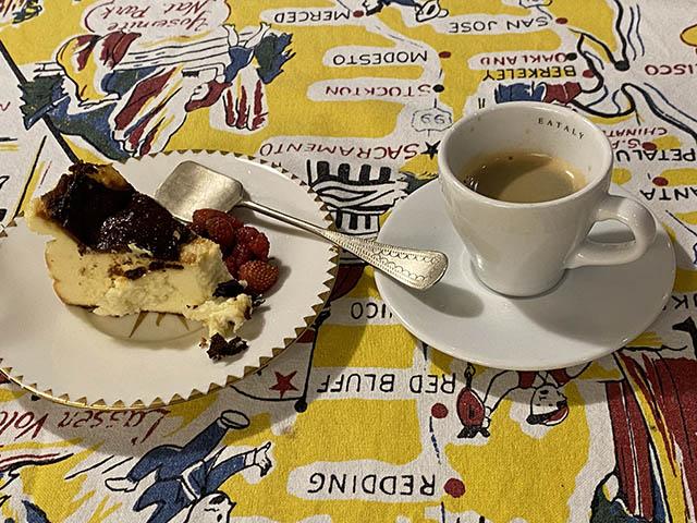 チーズケーキとカフェ