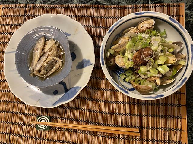 豆アジとアサリ