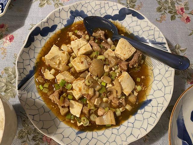 鶏肉と豆腐四川風