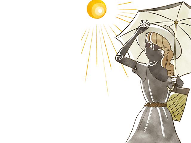 夏の肌荒れに悩む女性