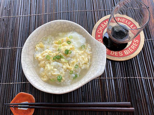 雑炊と日本酒