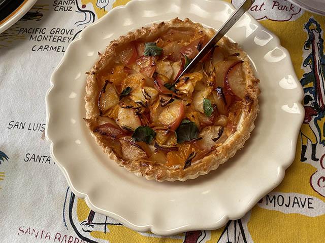リンゴとオレンジのパイ