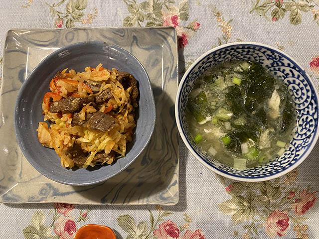 石焼ビビンバとスープ