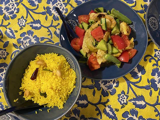 ライス&サラダ