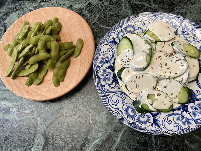 枝豆、きゅうり