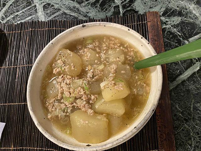 冬瓜と鶏挽肉