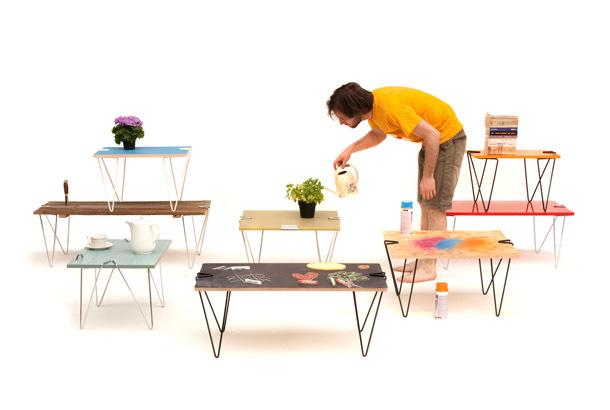 ミッドセンチュリー風のテーブルを自分で作れる魔法の脚「Tick」
