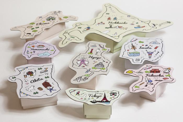 47都道府県の形をしたギフトBOXだよ