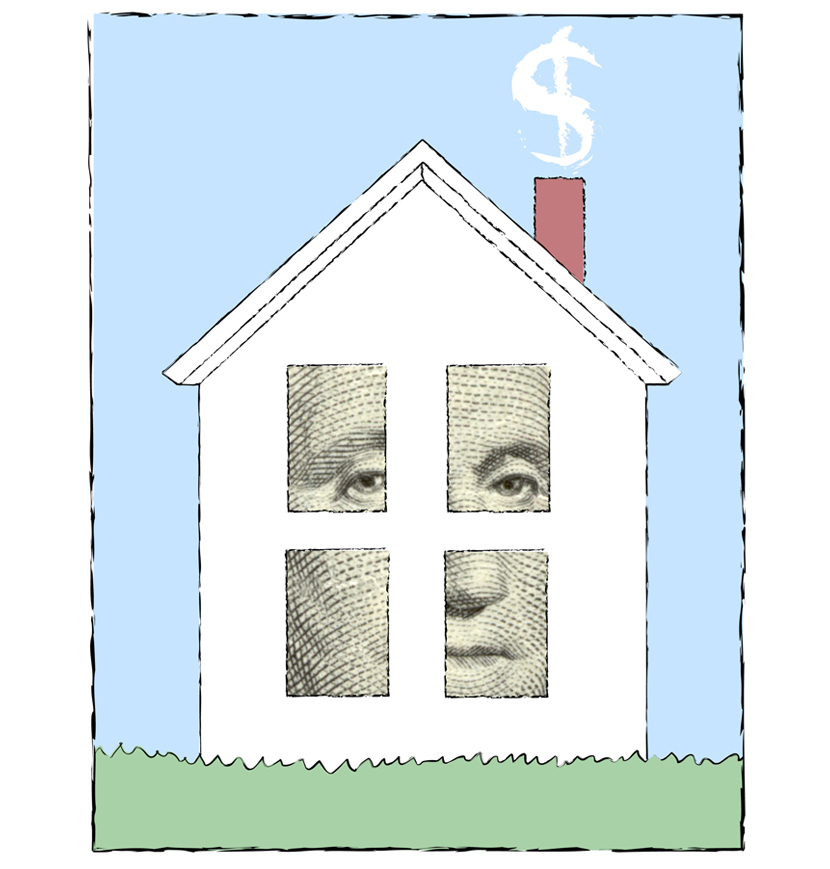 George's Home by Linda Braucht, computer graphics