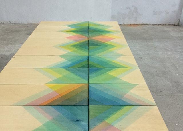 ヘリンボーンの板2