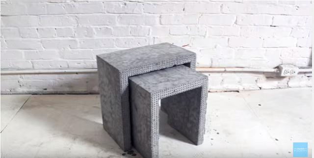 レゴブロックとコンクリートのDIYコーヒーテーブル_9