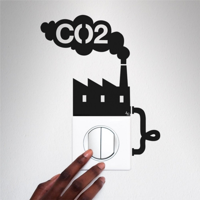 電気のスイッチを消してエコできるエコリマインダーCO2