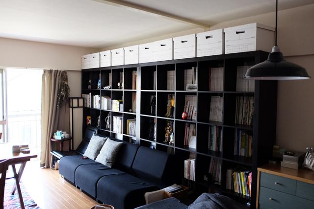 夫婦_デザイナー_レトロマンション_おしゃれ_IKEAのKALLAX_5