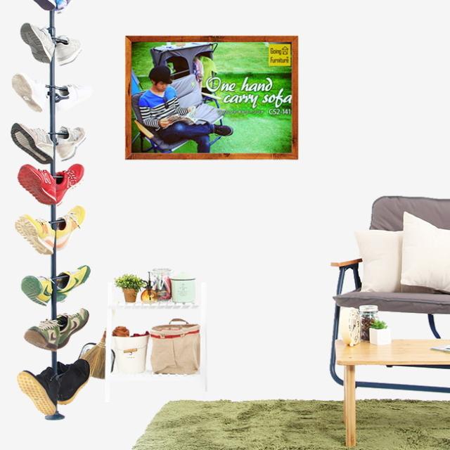 Going Furniture_折りたたみ式_家具_アウトドア_キャンプ_スニーカーディスプレイポール_靴収納_10