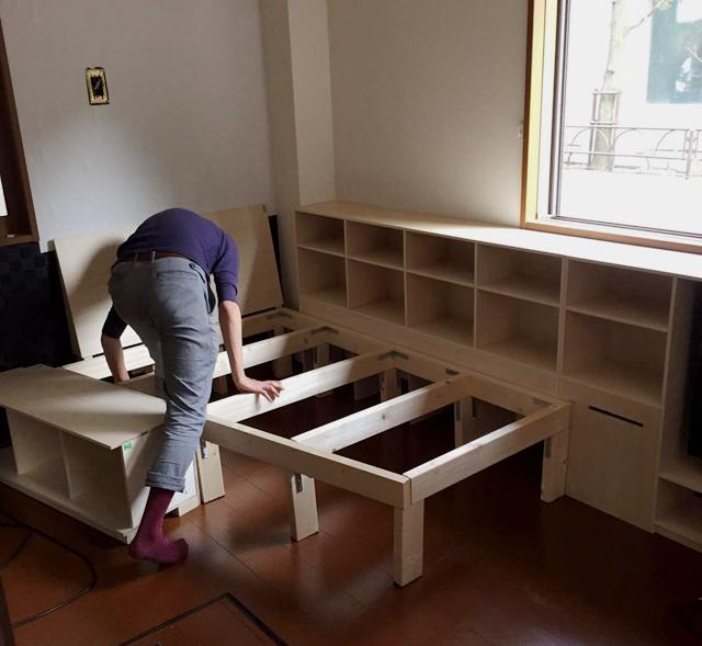 三軒茶屋で家賃9万の23平米ワンルームの家に1000冊の本と一緒に暮らすDIY好き男性のDIY2