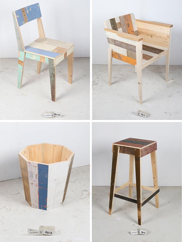 オランダのデザイナーPiet Hein Eekピート・ヘイン・イークによる廃材を利用してリサイクルやサスティナブルを意識した家具_1