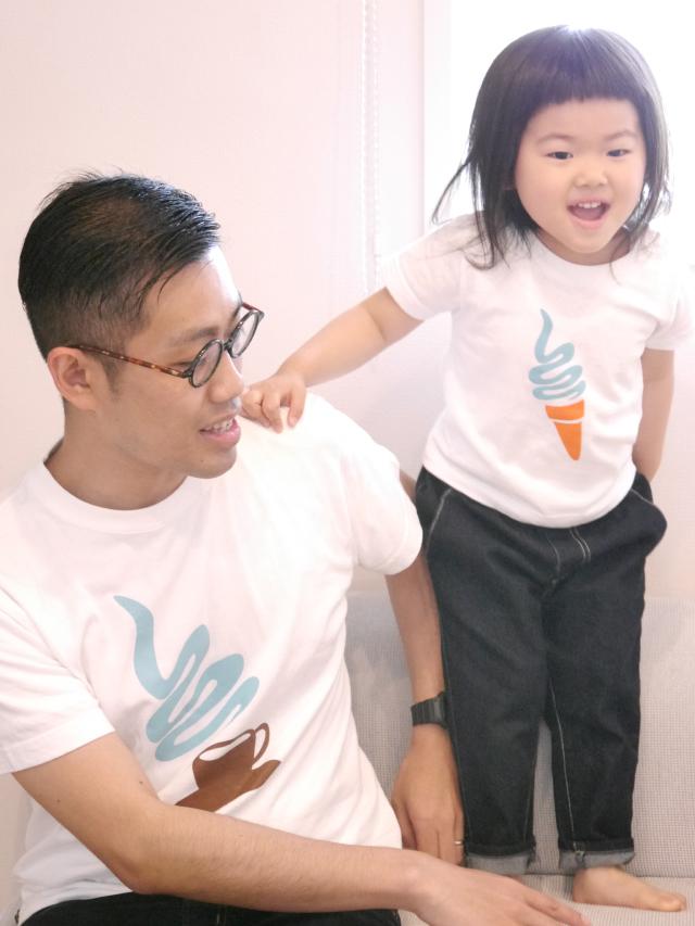 have some funのデザイナー生み出したTie-shirtsは、ふたりで並んだ時にそのコンセプトが分かるようになっている、ちょっと変わったかわいい親子用のペアルックです_3