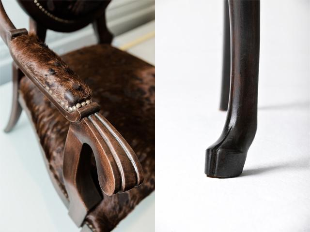 堂々と威厳のあるシカの椅子Hybrid No.1は、まるでハンティングを楽しむ中世ヨーロッパの貴族のような気分にさせてくれるイスです_3