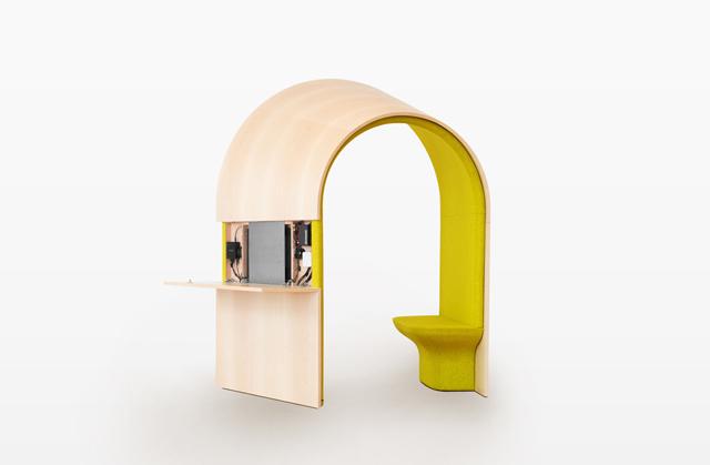 ジャン・クヴルールさんデザインのオープンだけどパーソナルな仕事場にもなる家の中に置くマイルーム_2
