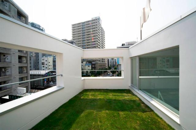 東京のど真ん中に暮らすために遮音とプライバシーを考えたシンプルでミニマルでデザイナーズでおしゃれな銀座の住宅_8
