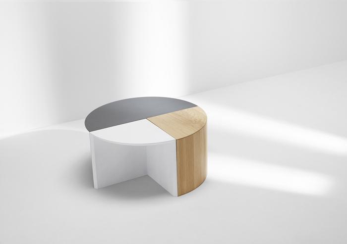 ロンドンの家具作り集団H Furnitureが手掛けるPie Chart Systemは円グラフをモチーフにした家具です1