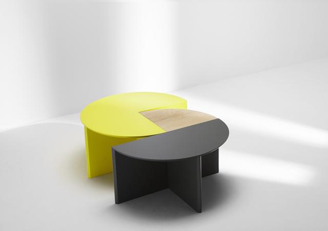 ロンドンの家具作り集団H Furnitureが手掛けるPie Chart Systemは円グラフをモチーフにした家具です2