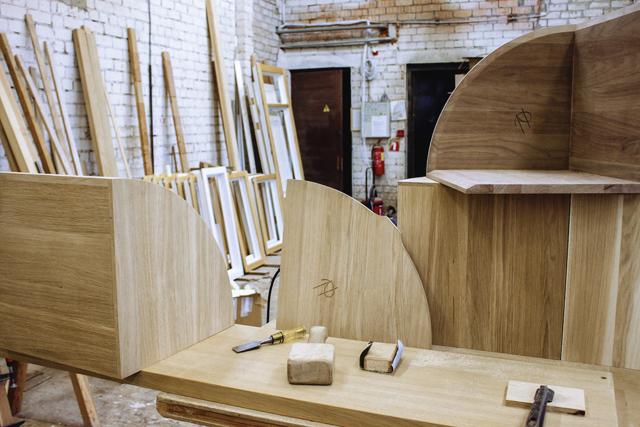 ロンドンの家具作り集団H Furnitureが手掛けるPie Chart Systemは円グラフをモチーフにした家具です3