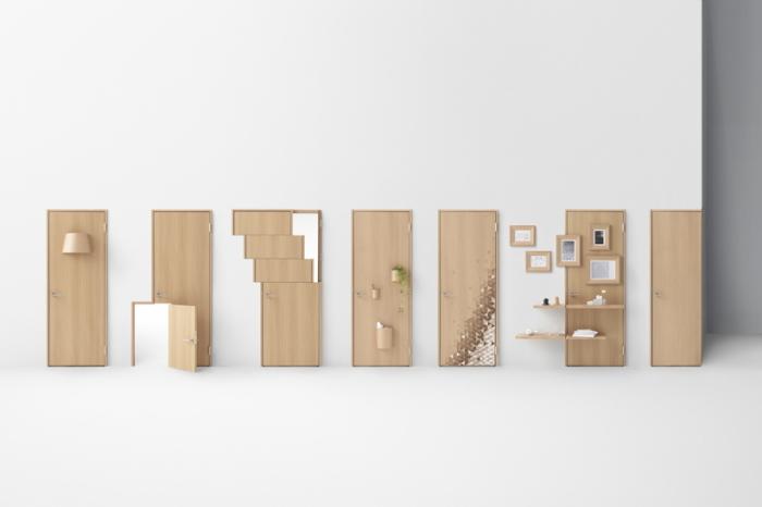 デザイン会社nendoが阿部興業の70周年を記念して制作した7種類のすてきなドア