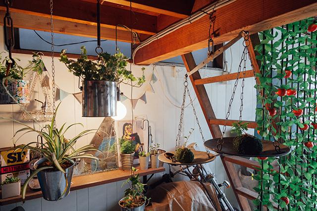 杉並区で、思い出を引き継ぐアートで秘密基地のようなセルフリノベーションの苔玉や植物