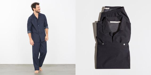 染みのあるZARAのインテリアブランド、ZARA HOMEのパジャマはドット柄ですが、小さなドットのため、柄物が苦手な方でも着やすいです