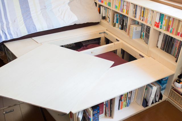 三軒茶屋で家賃9万の23平米ワンルームの家に1000冊の本と一緒に暮らすDIY好き男性の部屋の気に入ってないところ