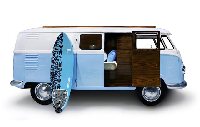 ワーゲンバスのデザインを踏襲したベッドBUN VAN_1