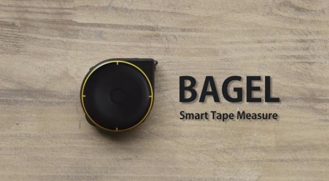 多機能なメジャー「Bagel」は「ヒモ」「タイヤ」「レーザー」3つの機能でなんでも測る他、Bluetoothでスマホと連動するので、いちいちメモを取る必要もありません。これひとつあれば、大抵のことはカバーできるし、買い物に行くときも便利1