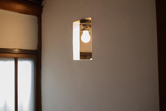 上野桜木あたりという古き良き日本の家である古民家のリノベについてkurachiffonの瀧内未来さんにインタビューの照明