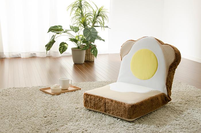 ラピュタパンみたいにかわいくておもしろい目玉焼き食パン座椅子