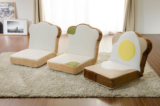 ラピュタパンみたいにかわいくておもしろい目玉焼き食パン座椅子_5