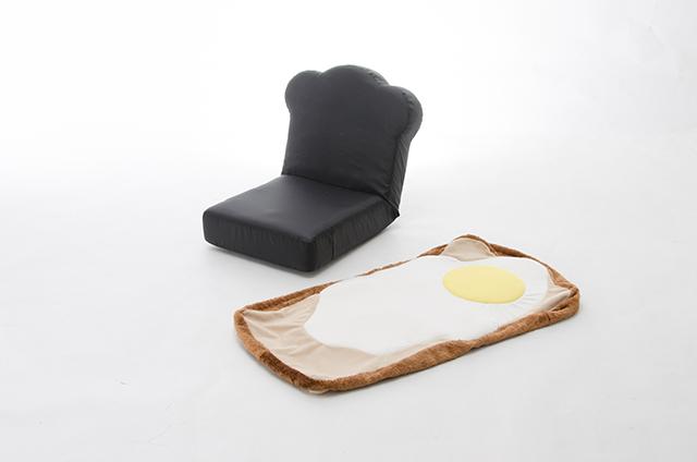 ラピュタパンみたいにかわいくておもしろい目玉焼き食パン座椅子_4