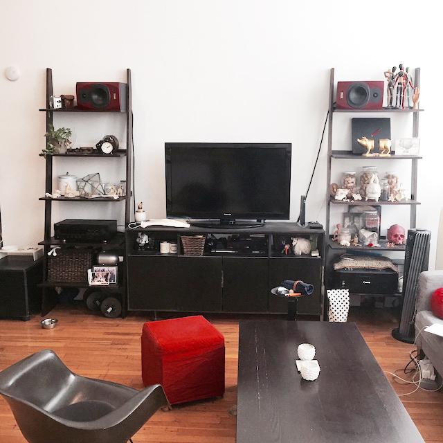 ニューヨークのブルックリンの元工場のリノベーション物件でおしゃれに暮らす建築家であるコバヤシユズルさんとグラフィックデザイナーであるハヤシアキさんの部屋_18