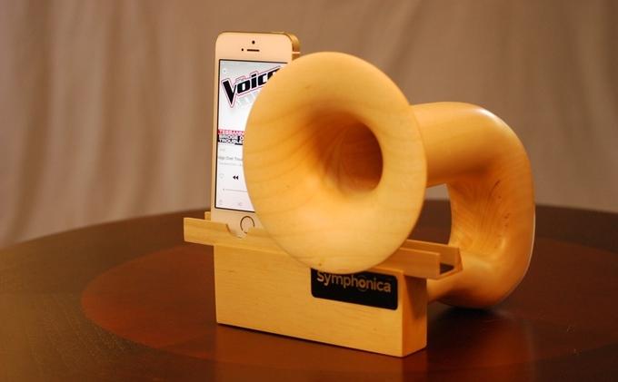 電気を使わない木のiPhone用スピーカーSymphonica_2