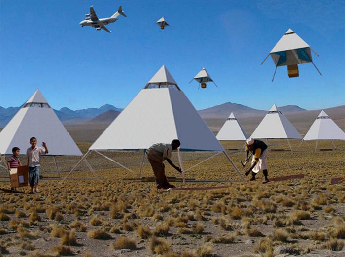 ポルトガルのデザイナー、カルロス・フランコさん発表したのは、まるでパラシュートのように空から降ってくる家「LOFTY」。家なのに空から降る?と混乱してしまいますが、すばらしい知恵と技術の結晶なんです。被災地や難民キャンプで大活躍の予感。top
