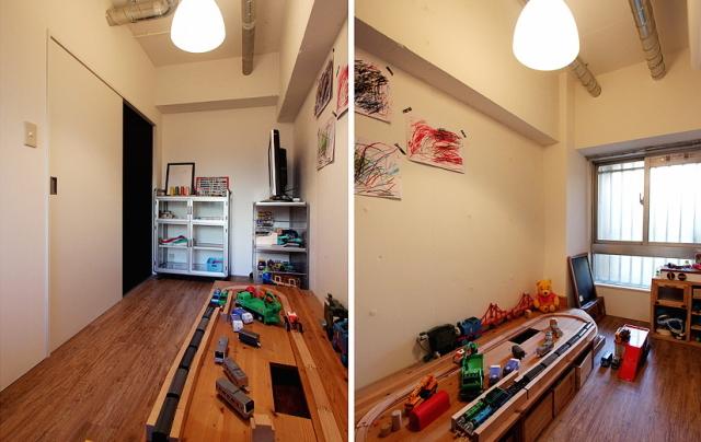 スケルトンによって自分の思い通りの広いリビング&キッチン空間を実現した杉並区のリノベーション事例「DRAFT」。無駄な動線と空間を省き、広さと自由度を重視したラフなコンセプトが生きたデザインです。8