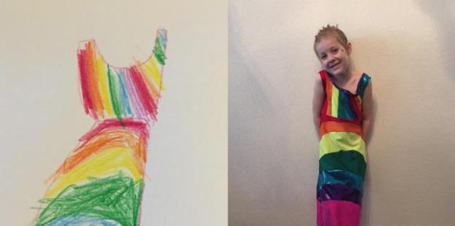 プレゼントに最適な、子どもが描いた絵と一緒にお出かけできるかわいいサービスPicture This Clothing_4