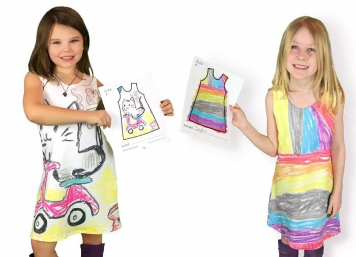 プレゼントに最適な、子どもが描いた絵と一緒にお出かけできるかわいいサービスPicture This Clothing_1